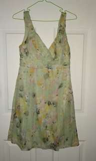 Cooper St Floral Silk dress