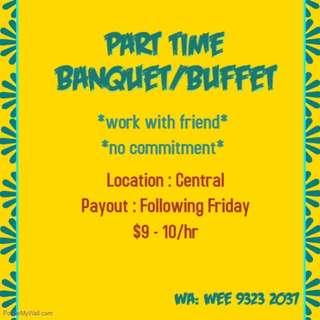 PT Banquet/ Buffet Staffs Needed