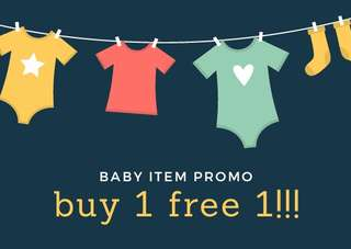 Baby item/dress buy 1 free 1