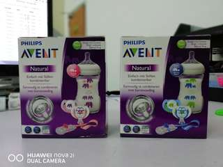 Philips avent special edition gift set pink/green