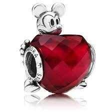 Disney, Mickey Love Heart Charm