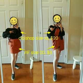 size xs cloth set