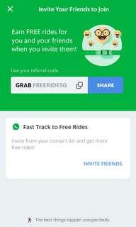 Grab Promo Invitation Code (Free 1 ride)
