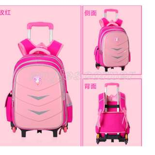 School Bag 6 Wheels Trolley Kids Bag