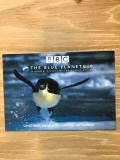 BBC 2001年 藍地球  明信片 postcard