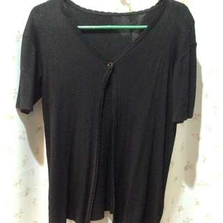 outer/cardigan hitam