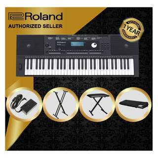 The Pianist Studio   Authorized Seller - Roland E-X20 61 Keys Arranger Keyboard Piano with Keyboard Stand and Keyboard Bench and Gator Gust Cover GKC1540 Singapore Sale