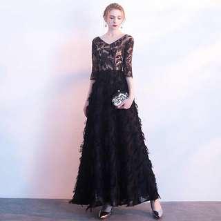 Tassels Dress Black