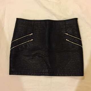 Asks Faux Leather Mini Skirt