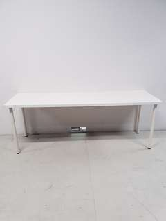IKEA WOOD TABLE TOP WITH METAL LEGS