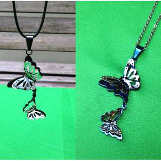 Stainless Steel 3-D Butterfly pendant with necklace