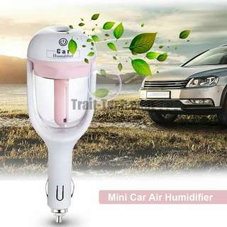 Car air humidifier with free 1 pc essential oil 10 ml