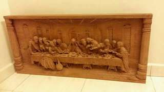Antique engrave(sculpture)Jesus last supper wooden curving for sale...