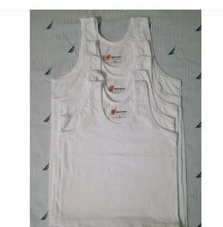 Kentucky white cotton sando for boys