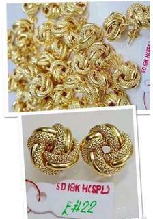 Genuine 18K Gold Earrings