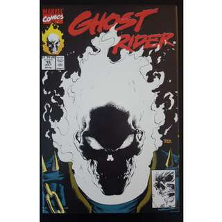 Ghost Rider #15 (1991 2nd Series)- Gorgeous Glow-In-The-Dark Cover By Mark Texeira! EPIC!