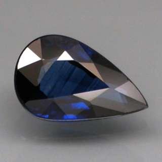 1.03 ct. Pear Natural Blue Sapphire