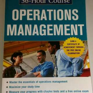 McGraw Hill 36 hour course - Operations Management