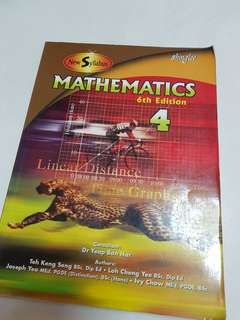 (Very new) Shing Lee Mathematics Textbook 4 6th Edition