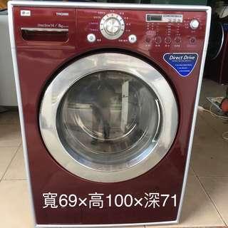 【金文宣電器行】樂金 Lg 14公斤 滾筒 洗衣機 洗脫烘 二手 蘆洲 台北