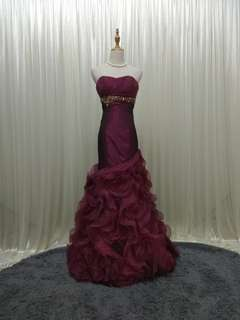 RENT!!! Mermaid evening gown dinner dress maxi prom ( S to M )
