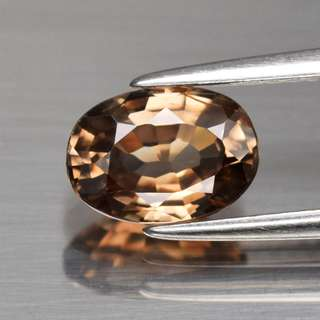 1.91ct Oval Natural Brown Zircon