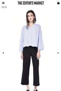 ‼️SALE The Editors Market Britta Cross-Front Blouse