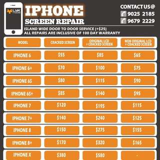 24/7 iPhone repair service. Pm us today !
