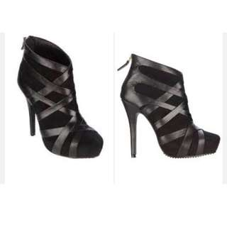 Zang Toi Cross Strap Ankle Boots