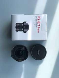 Samyang lens F2.8/14mm