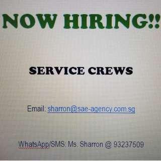 Service Crews Needed!!!