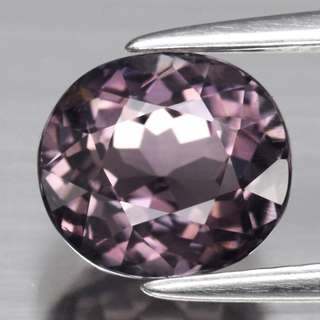 2.10ct Oval Natural Grey Purple Tourmaline