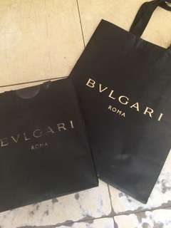 Authentic Bulgari Paperbag