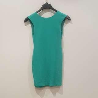 Red Velvet XS Gorgeous Green Mini Dress