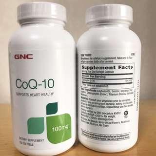 ☆抗氧化☆心臟健康☆ GNC CoQ-10 (輔酶Q-10) 100mg 150粒