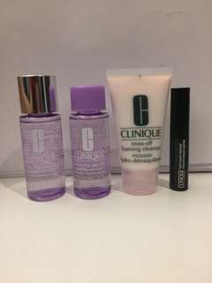 Clinique travel size products