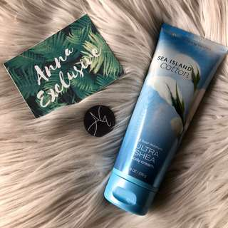 AUTHENTIC Bath & Body Works Signature Collection SEA ISLAND COTTON Ultra Shea Body Cream