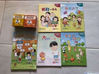 P1 欢乐伙伴 字宝宝 flash cards and short story books bundle sale