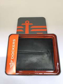 New! Dockers Men's Black Wallet Authentic