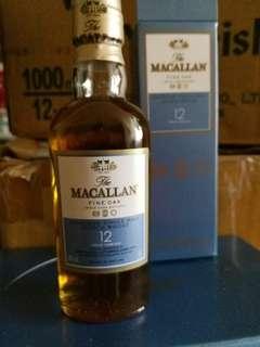 麥卡倫FineOak12年威士忌酒辦,每支