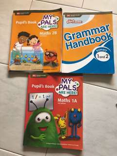 P1 P2 Primary 1 and 2  , my pals Maths 2B 1A text book