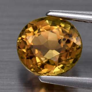 0.75ct Oval Natural Greenish Yellow Tourmaline