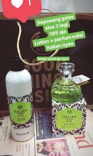 Body shop parfume. Italian summer fig set + lotion