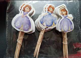 Sofia the first Cake/Cupcake/Muffin Toppers for Party Decoration