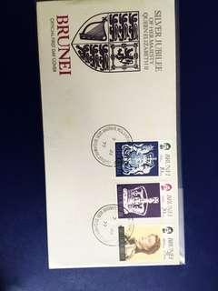 1977 Brunei Silver Jubilee of Q.E. II FDC