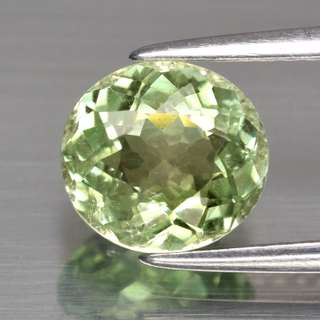 1.70ct Oval Natural Yellowish Green (Mint) Tourmaline