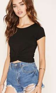 Forever 21 long sleeves twisted crop top