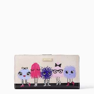 Kate Spade Monster Party Stacy Imagination Wallet