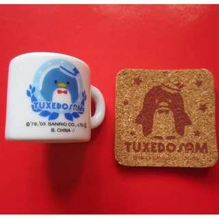 TUXEDOSAM 企鵝陶瓷杯仔和杯墊(2003年)
