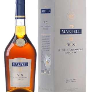 Martell VS Fine Champagne Cognac 馬爹利干邑 1L 一公升 酒 VSOP Brandy (機場限定 airport duty free exclusive)